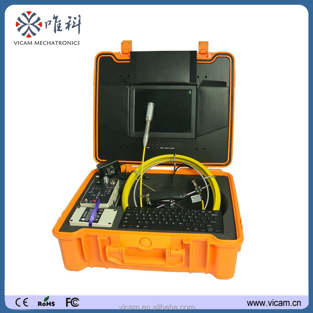 CCTV security battery operated wireless sewer chimney inspection camera with 512 transmitter