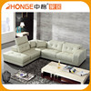 Very Soft L Shape Sectional Genuine Heated Modern Leather Sofa