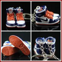 3d sneaker shoe keychain/3d mini nike shoe keychain