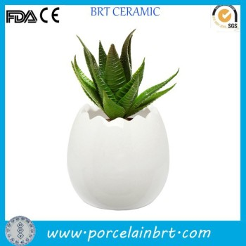 Breaking egg shaped home decoration Flower Pot