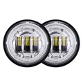 High quality !!! LED RGB chrome 4.5 inch fog light for harley motorcycle with angel eyes.