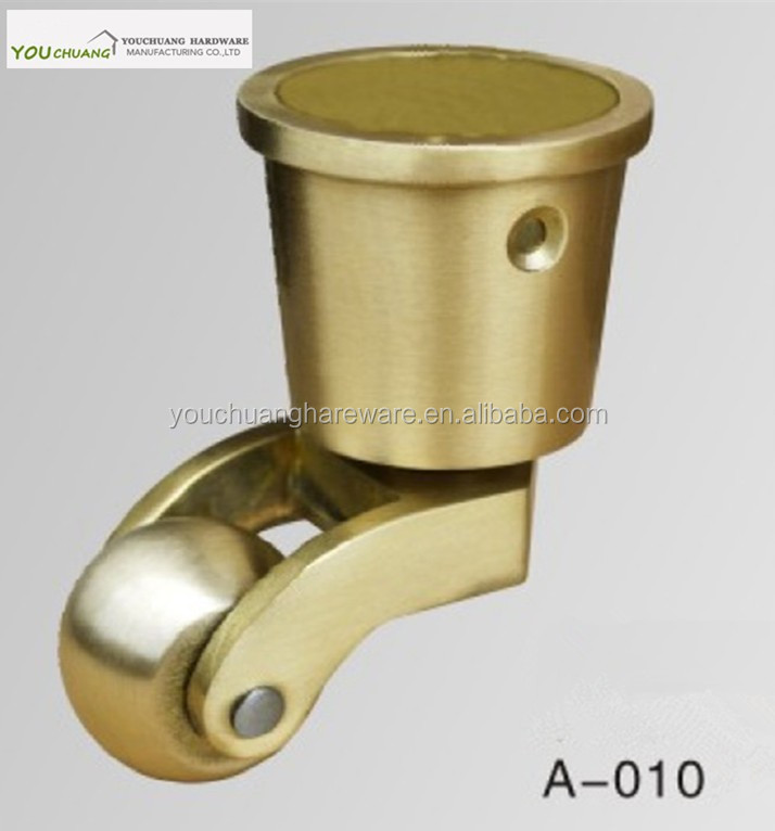 Solid brass round/square cup caster