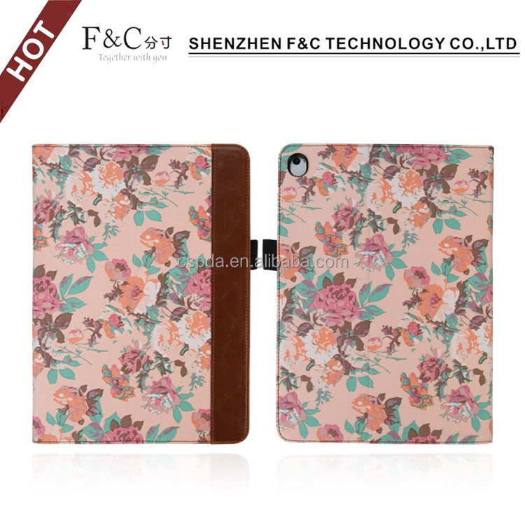 "2017 fancy Character Pattern stand smart cover for iPad Pro 9.7"" Diplomat Leather Folio Case"
