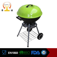 17 inch commercial easily assembled portable zinc plated Smoke free bbq charcoal grill