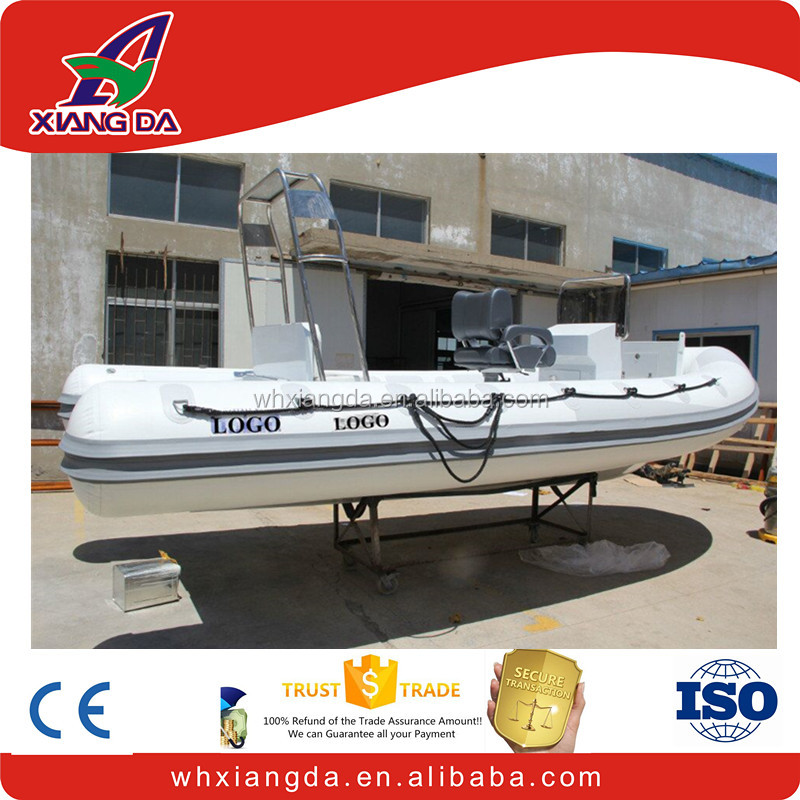 Inflatable fishing pedal boat rigid inflatable boat with electric outboard motor for sale