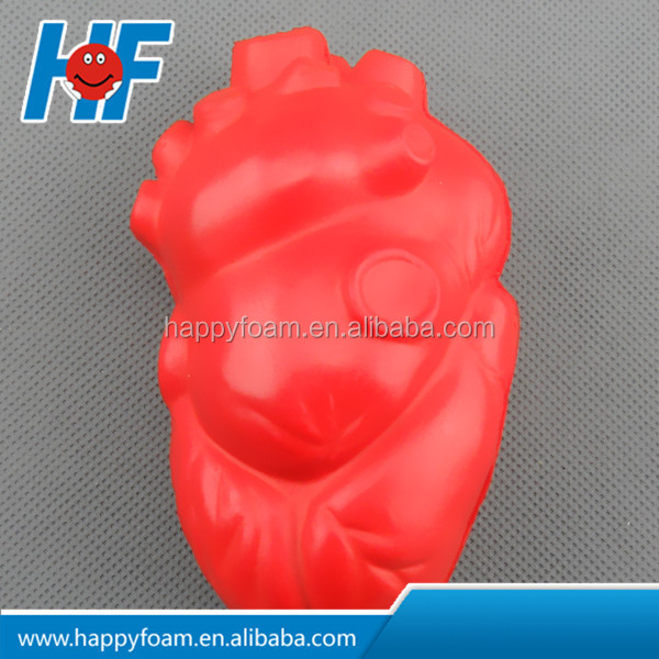 heart shaped stress ball anti stress bal promotional toy high quality PU