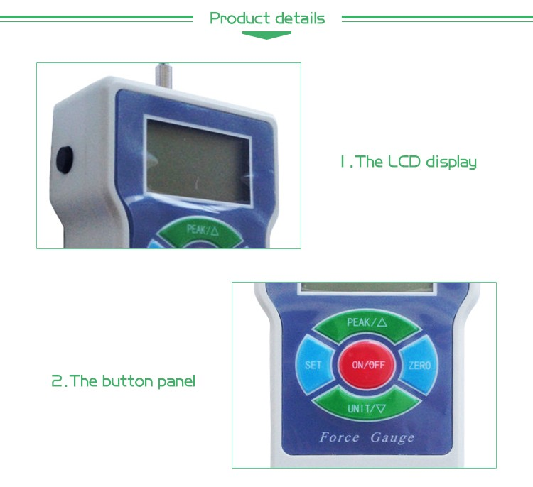 100g 200g 300g 500g 1000g 2000g Portable Digital Tension Gauge