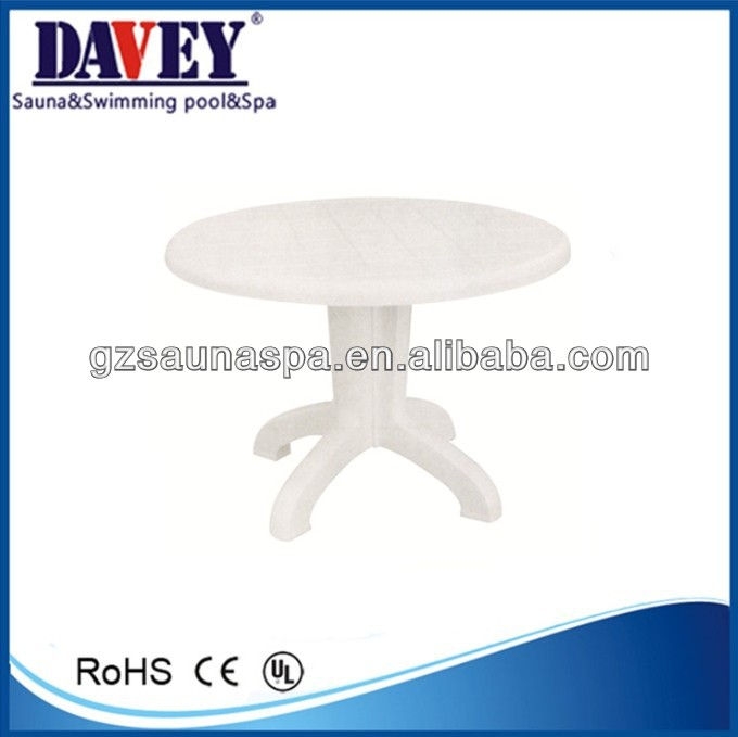 Hot selling small plastic round Tea table white