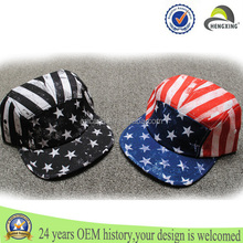 hot new products for 2015 flat peaked five panel cap hiphop caps flag 5 panel hat