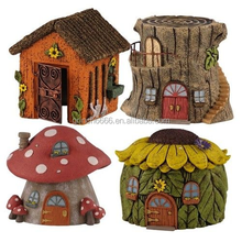 Hot sale cement Fairy House, miniature model houses,natural fairy houses