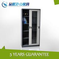 Chinese Durable Sheet Steel Stainless Metal Glass Sliding 2 Door Steel Filing Cabinet