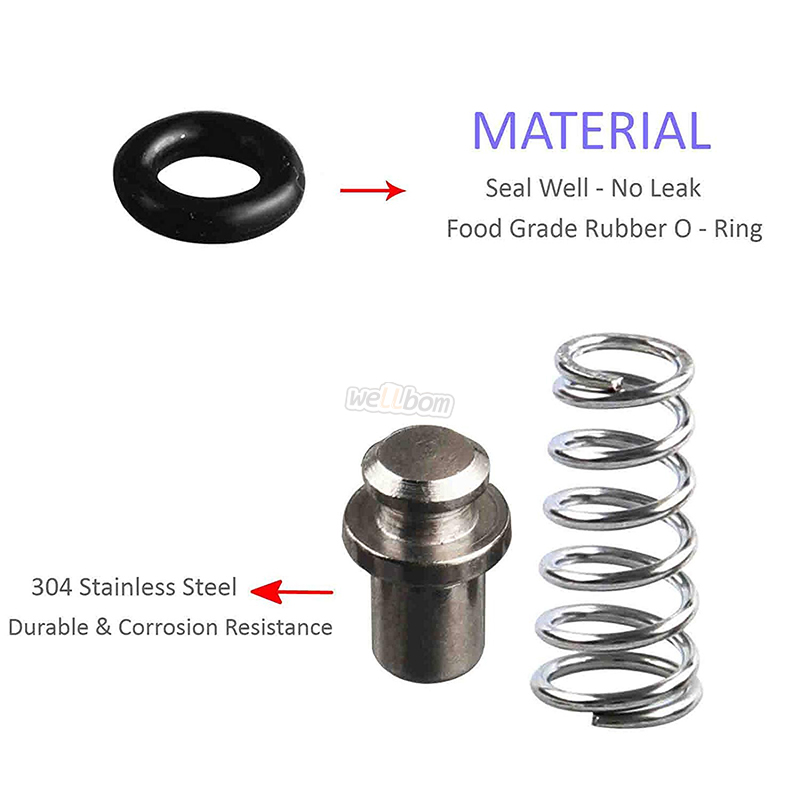 "Ball Lock Post with Poppets, Silicone O Rings, 304 Stainless Steel 19/32""-18 Gas & Liquid Corny Keg Adapter Kit"