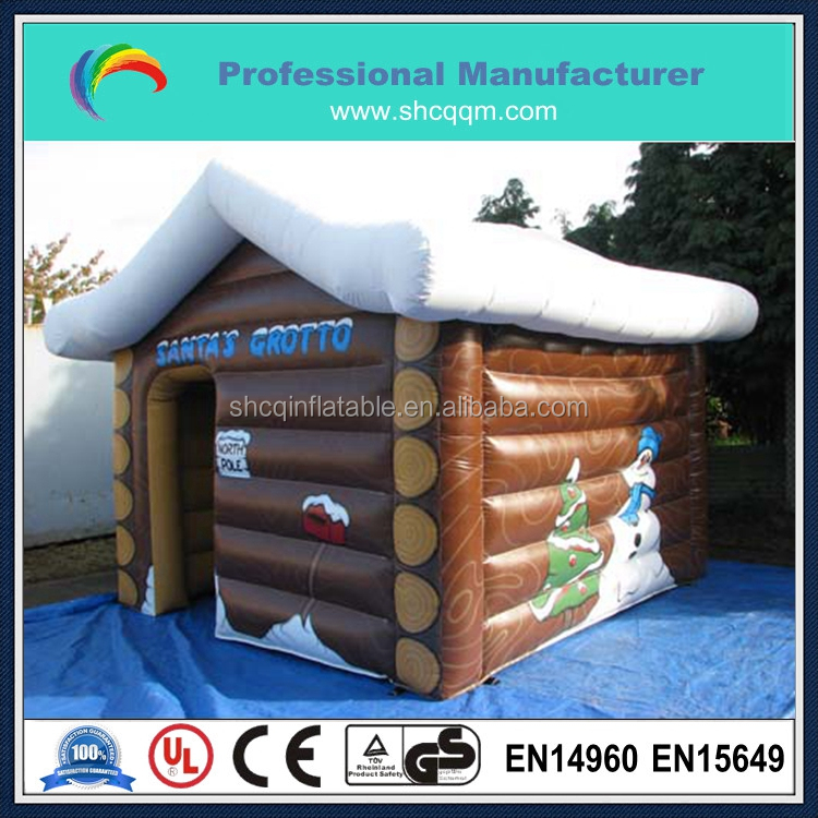 hot sale inflatable santa grotto for sale/inflatable santa house for sale/inflatable christmas tent for sale