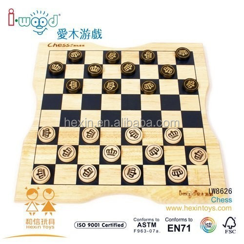 Wooden Educational Chess Game Factory best selling toy