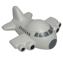 High quality promotional gifts custom design plane shape stress ball