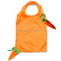 Promotional 2 layer handles fashion fruit shaped foldable bags with carry tab