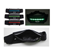 2017 new running waist bag with elastic band and led light