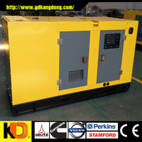 Low fuel consumption low price soundproof 30kw 37.5kva diesel generator with CUMMINS engine