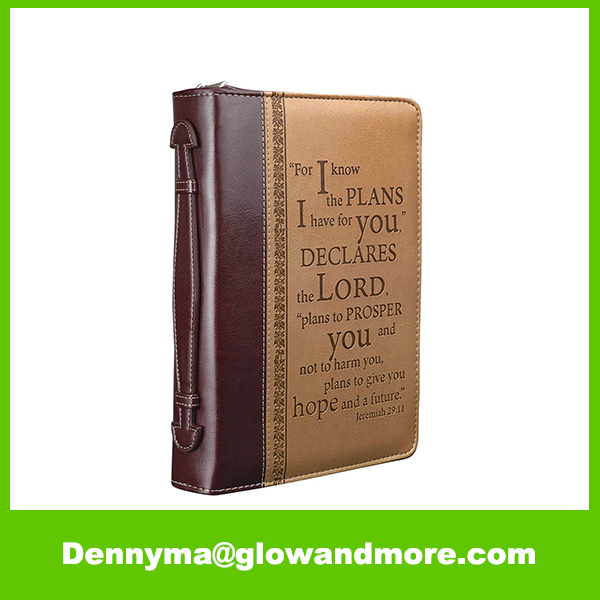 Premium Two-tone Bible Leather Book Cover