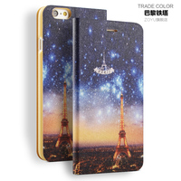 For iphone 6 plus Fashion Leather Picture Skin Smart Cover