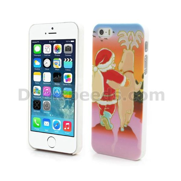Merry Hard Plastic Back Case for iPhone 5SE Christmas Case for iPhone 5/5s