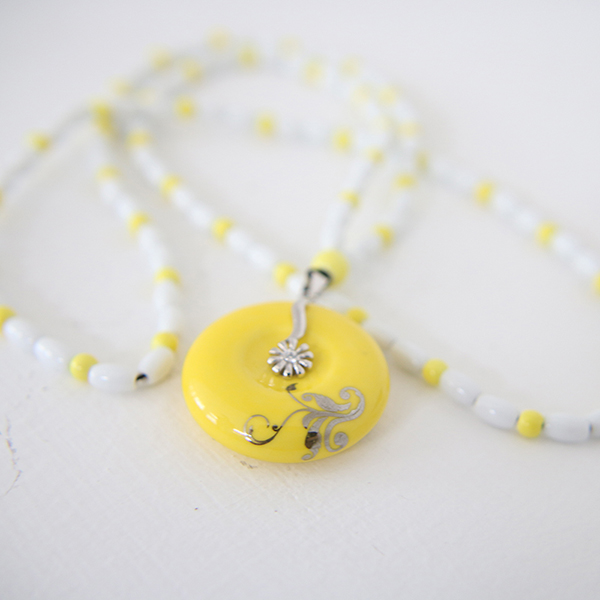 Ceramic Jewelry Wholesale China Porcelain Material Pendant Necklace