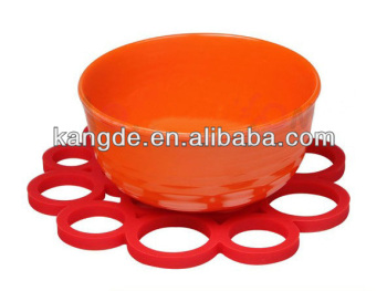 Kitchenware essential tools round silicone table mats