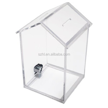 wholesale custom perspex charity house donation box