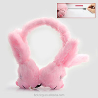 Warm cute animal headsets with hidden wire as gifts for kids