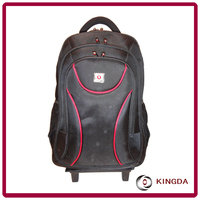Laptop trolley backpack computer bags with wheels design for 2016