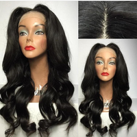 2016 new fashion beauty virgin brazilian human hair high ponytail full lace wigs