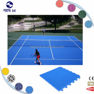 Outdoor use PP interlocking plastic flooring for badminton basketball futsal tennis school dance gym garage with factory price