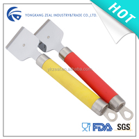 hot selling promotional floor scraper with plastic handle and steel slicer