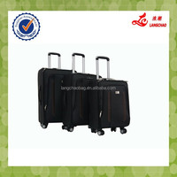 2015 famous four wheels black luggage carry on
