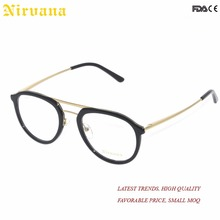 fashionable double bridge design acetate optical glasses frames