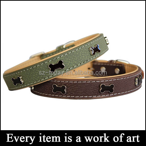(sz-dog 6) wholesale leather dog collars,smart dog training collar,pu dog collar