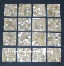 Mother Of Pearl Sea Shell Tile , Semi Precious Stone Tile