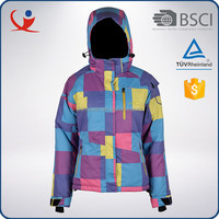 China wholesale fashion women ski jacket fancy designer coat