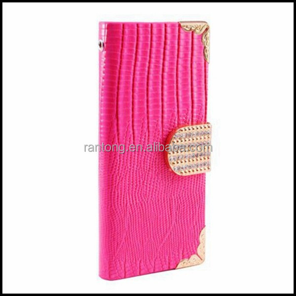 High quality bling wallet mobile phone case for iphone 6 plus