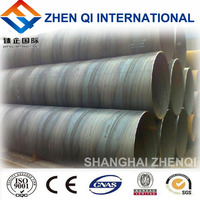 Shanghai galvanized pipe ! sale helical submerged arc welding hsaw steel pipe