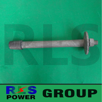 spindle pin with insulator /Wiring Accessory Insulator Pin/ Electric power fittings