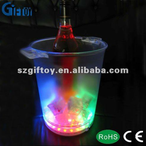 Multi color led ice bucket