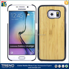 New style PC+Wood back cover phone case for samsung galaxy s6 edge