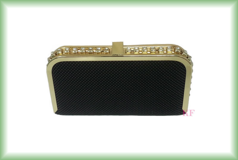 Hot beaded evening metal bag party clutch