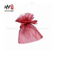 Decorated with your logo organza duoble pull pouches