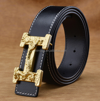 High quality classical genuine leather belts with good buckle for men