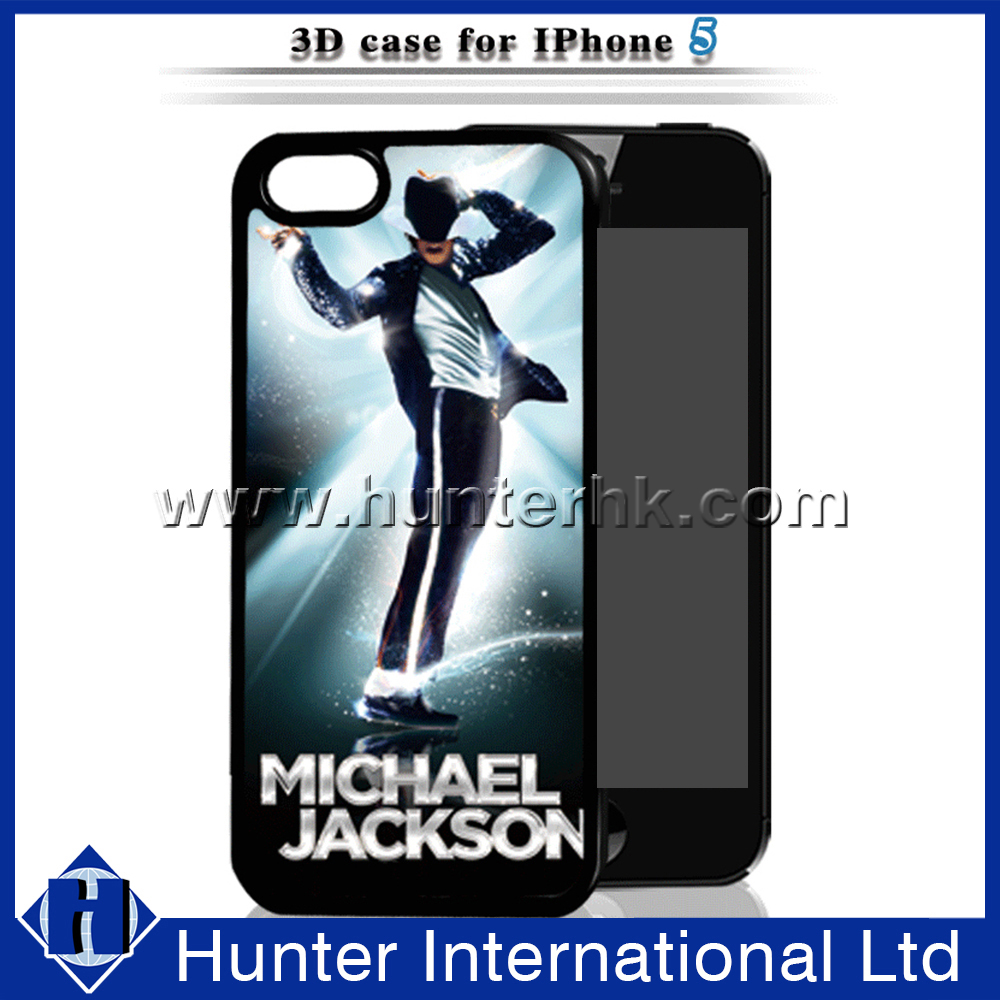 3D Dynamic MJ Case Hard Cover For iPhone 5