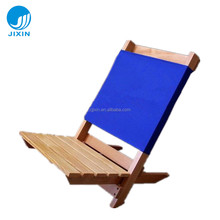 Outdoor beech wood canvas folding beach chair