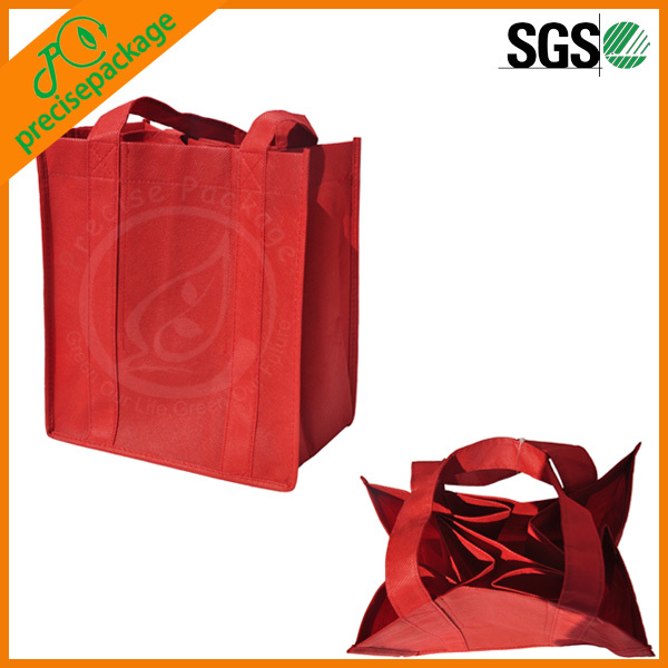 high quality wine bag/eco friendly wine bottle bag/non woven bottle bag
