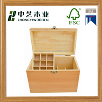 Natural handmade custom high quality style factory supply wooden essential oil display box wholesale